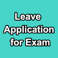Leave Application for Exam to Office