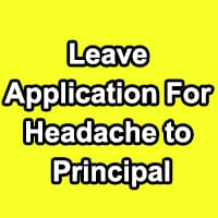 Absent Application Due to Headache
