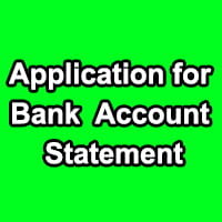 Request for Bank Statement Letter