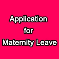 Maternity Leave Application Letter for Teachers