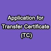 Write An Application for Transfer Certificate TC