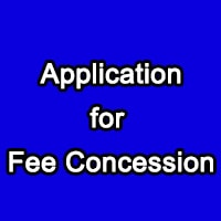 Application for Fee Concession school college