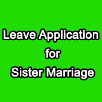 Leave Letter for Sister Marriage