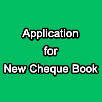 New Cheque Book Request Letter for Saving Account