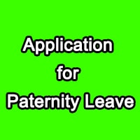 Application for Paternity Leave After Delivery