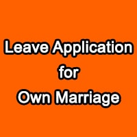 leave application for own marriage to hr