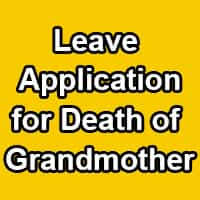 Emergency leave for grandparents death