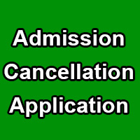 School Admission Cancellation and Fee Refund Application