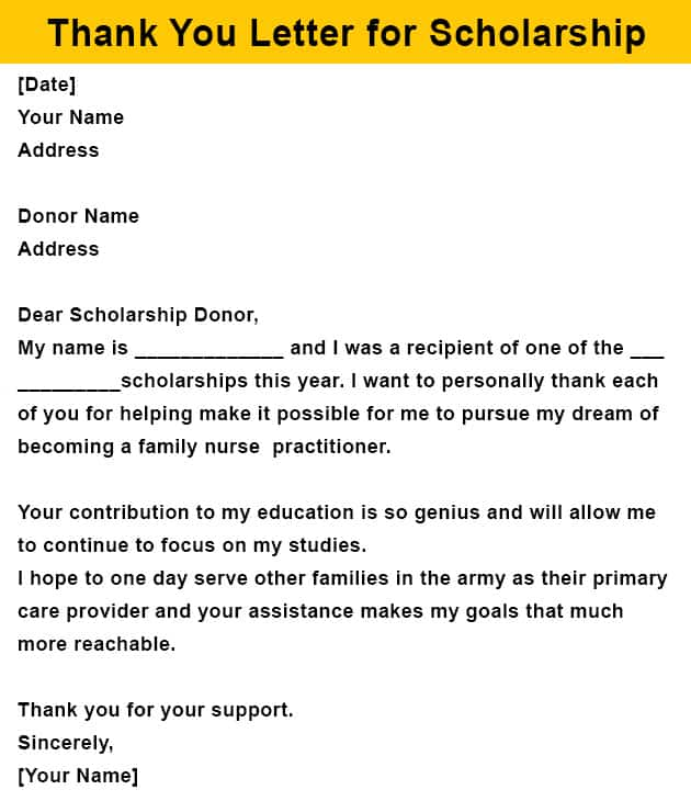 How to Write a Thank You Letter for Scholarship