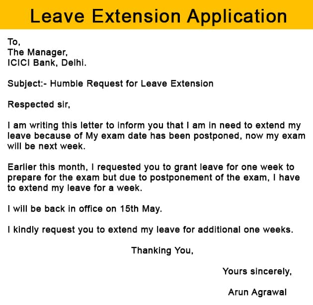 How to Write a Leave Extension Application